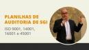Planilhas de Auditoria Interna ISO 9001, 14001, 16001 e 45001, de  Roberto Roche
